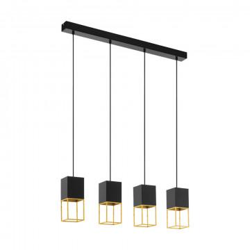 Подвесной светильник Eglo Montebaldo 97734, 4xGU10x5W, черный, металл
