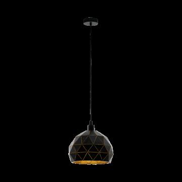 Подвесной светильник Eglo Roccaforte 97841, 1xE27x60W, черный, металл
