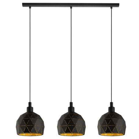 Подвесной светильник Eglo Roccaforte 97846, 3xE14x40W, черный, металл
