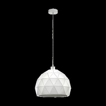 Подвесной светильник Eglo Roccaforte 97855, 1xE27x60W, белый, металл