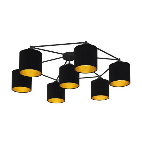 Потолочная люстра Eglo Staiti 97895, 7xE27x40W, черный, металл, текстиль