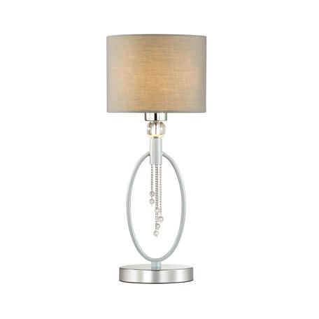 Настольная лампа Lumion Neoclassi Santiago 4515/1T, 1xE27x60W, серебро, серый, хром, металл со стеклом, текстиль
