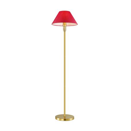 Торшер Lumion Vanessa 4514/1F, 1xE27x60W, золото, красный, металл, текстиль