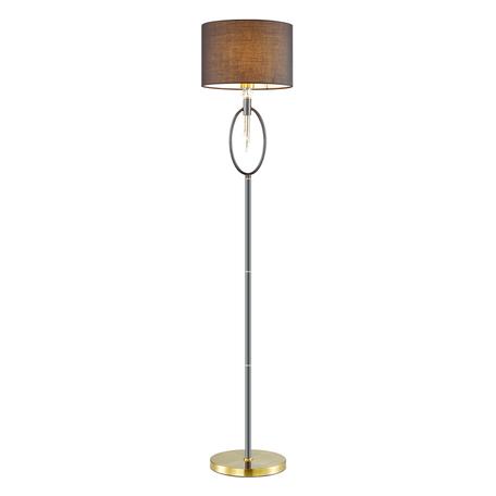 Торшер Lumion Neoclassi Santiago 4516/1F, 1xE27x60W, матовое золото, черный, металл со стеклом, текстиль