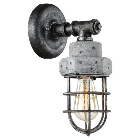 Бра Lussole Loft Commack LSP-9103, IP21, 1xE27x60W, серый, металл, бетон