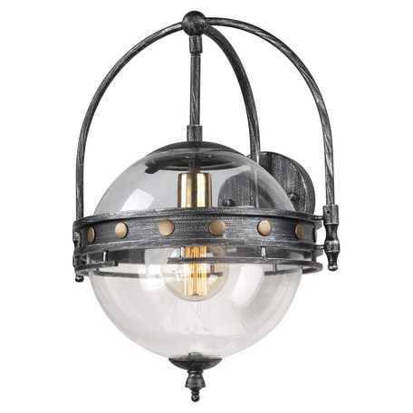 Бра Lussole Loft Yonkers LSP-9181, IP21, 1xE27x60W, серый, прозрачный, металл, металл со стеклом