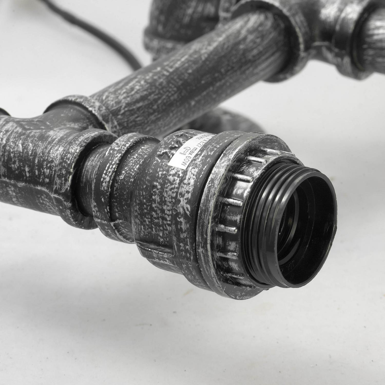 Бра Lussole Loft Irondequoit lsp-9192, IP21, 2xE27x60W, серый, металл - фото 2