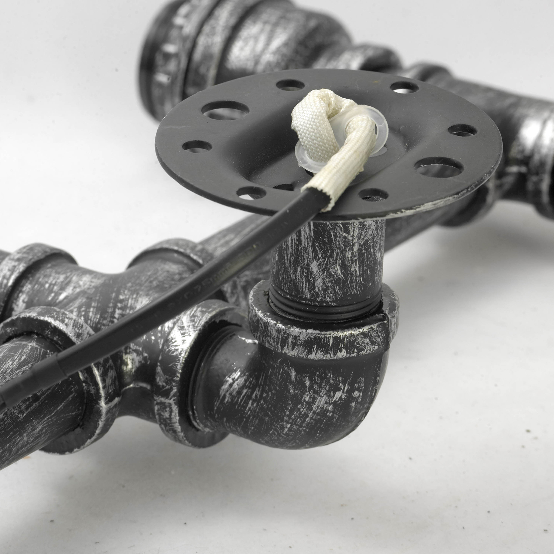 Бра Lussole Loft Irondequoit lsp-9192, IP21, 2xE27x60W, серый, металл - фото 6