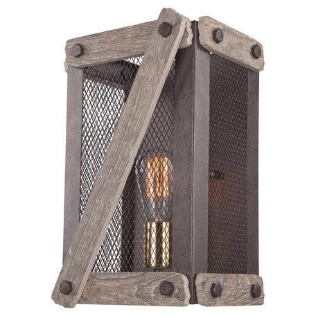 Настенный светильник Lussole Loft Syracuse LSP-9101, IP21, 1xE27x60W, коричневый, керамика, металл