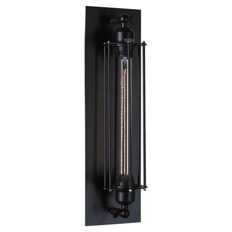 Настенный светильник Lussole Loft Irondequoit LSP-9120, IP21, 1xE27x60W, черный, металл