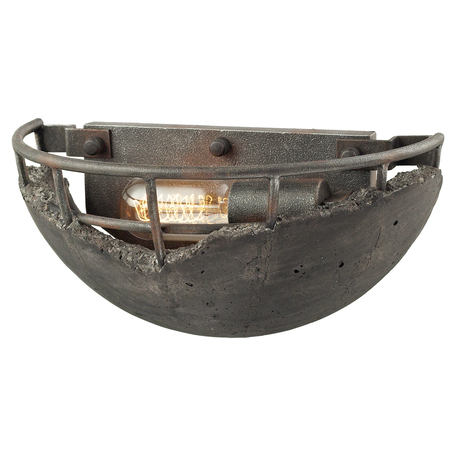 Настенный светильник Lussole Loft Medford LSP-9141, IP21, 1xE27x40W, серый, металл, бетон