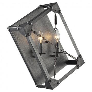 Настенный светильник Lussole Loft Albany LSP-9182, IP21, 2xE14x40W, серый, металл