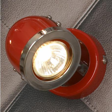 Настенный светильник с регулировкой направления света Lussole Loft Tivoli LSN-3101-01, IP21, 1xGU10x50W, красный, металл