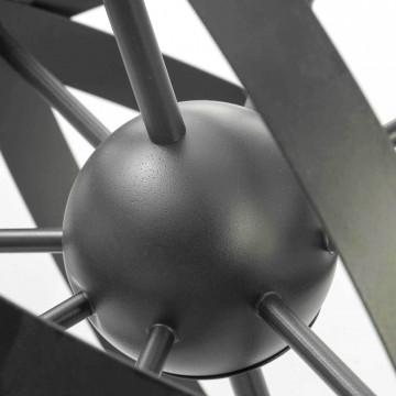 Подвесная люстра Lussole Loft Utica LSP-9300, IP21, 8xE14x40W, черный, металл - миниатюра 3