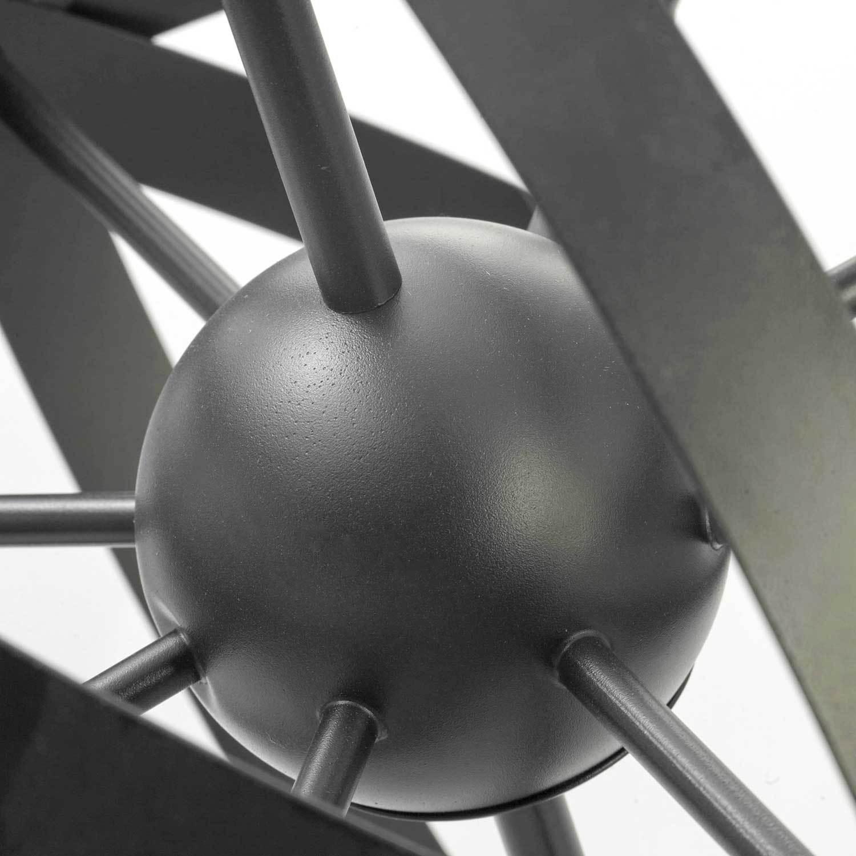 Подвесная люстра Lussole Loft Utica LSP-9300, IP21, 8xE14x40W, черный, металл - фото 3