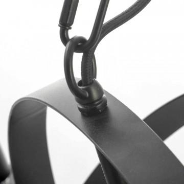 Подвесная люстра Lussole Loft Utica LSP-9300, IP21, 8xE14x40W, черный, металл - миниатюра 4