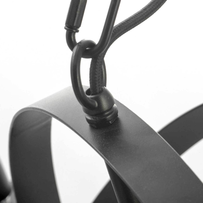 Подвесная люстра Lussole Loft Utica LSP-9300, IP21, 8xE14x40W, черный, металл - фото 4