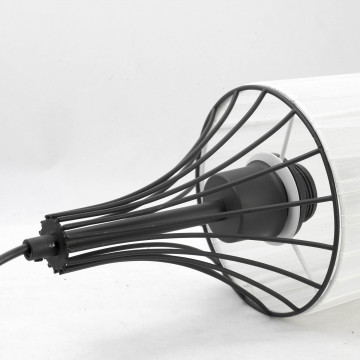 Подвесной светильник Lussole Loft Riardo lsn-5406-03, IP21, 3xE27x60W, черный, белый, металл, текстиль - миниатюра 3