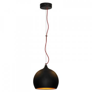 Подвесной светильник Lussole Loft Aosta LSN-6116-01, IP21, 1xE27x60W, черный, металл - миниатюра 2
