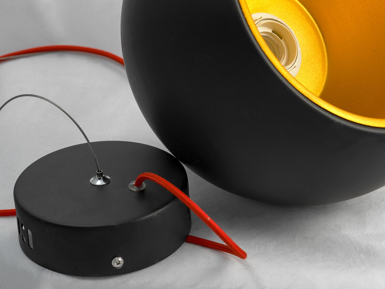 Подвесной светильник Lussole Loft Aosta LSN-6116-01, IP21, 1xE27x60W, черный, металл - фото 4