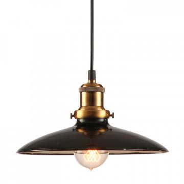 Подвесной светильник Lussole Loft Glen Cove LSP-9604, IP21, 1xE27x60W, черный, металл