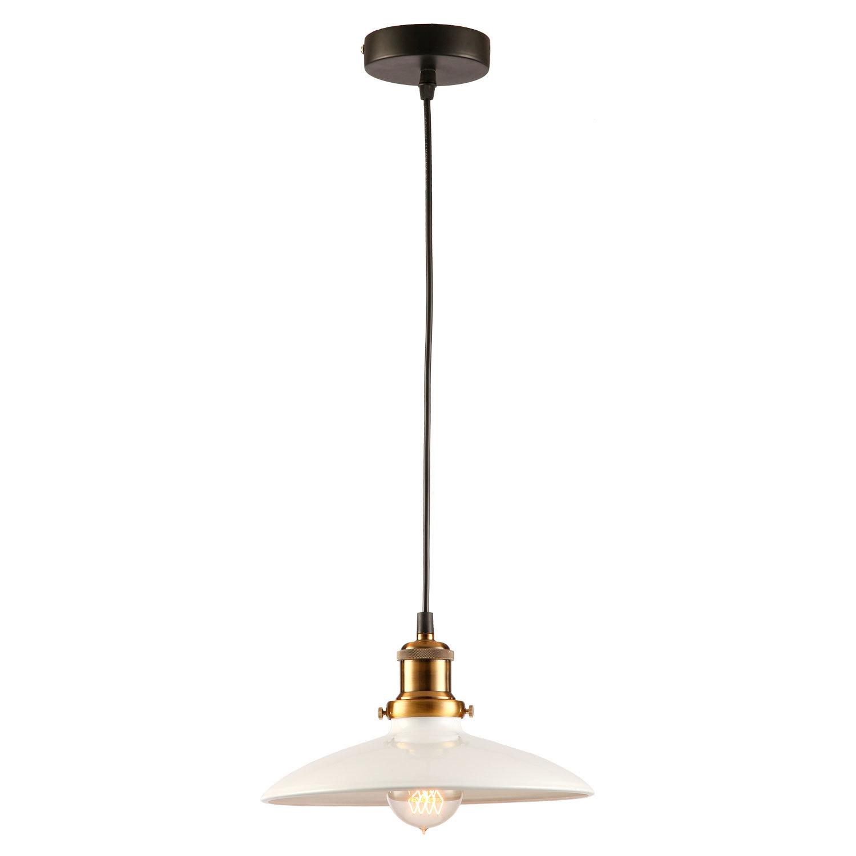 Подвесной светильник Lussole Loft Glen Cove LSP-9605, IP21, 1xE27x60W, черный, белый, металл - фото 1
