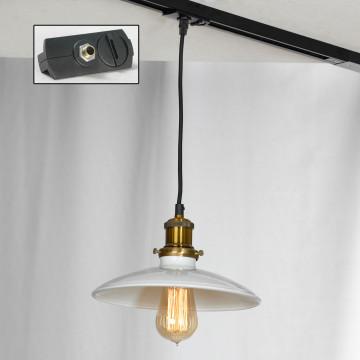 Подвесной светильник Lussole Loft Glen Cove LSP-9605, IP21, 1xE27x60W, черный, белый, металл - миниатюра 2