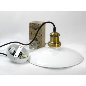 Подвесной светильник Lussole Loft Glen Cove LSP-9605, IP21, 1xE27x60W, черный, белый, металл - миниатюра 5