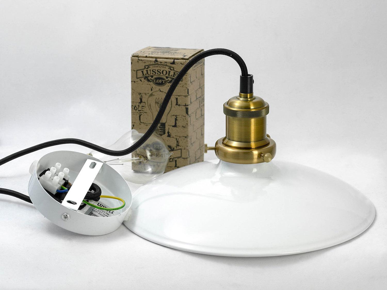 Подвесной светильник Lussole Loft Glen Cove LSP-9605, IP21, 1xE27x60W, черный, белый, металл - фото 5