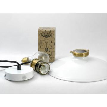 Подвесной светильник Lussole Loft Glen Cove LSP-9605, IP21, 1xE27x60W, черный, белый, металл - миниатюра 6