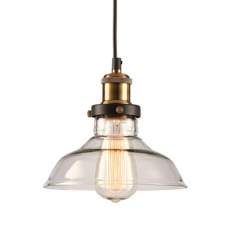 Подвесной светильник Lussole Loft Glen Cove LSP-9606, IP21, 1xE27x60W, черный, прозрачный, металл, стекло