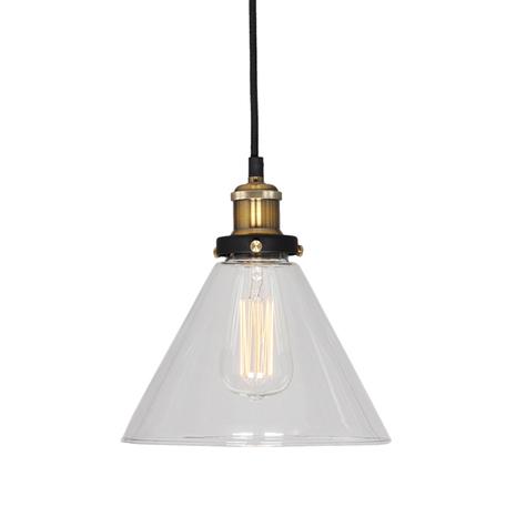Подвесной светильник Lussole Loft Glen Cove LSP-9607, IP21, 1xE27x60W, черный, прозрачный, металл, стекло