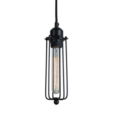Подвесной светильник Lussole Loft Irondequoit LSP-9608, IP21, 1xE27x60W, черный, металл