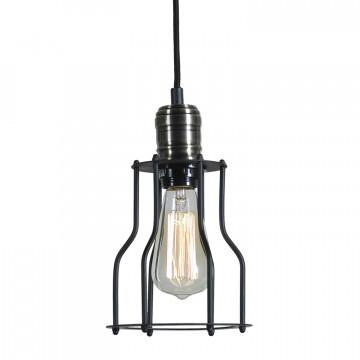 Подвесной светильник Lussole Loft Baldwin LSP-9610, IP21, 1xE27x60W, черный, металл