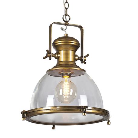 Подвесной светильник Lussole Loft Monsey LSP-9611, IP21, 1xE27x60W, бронза, прозрачный, металл, металл со стеклом