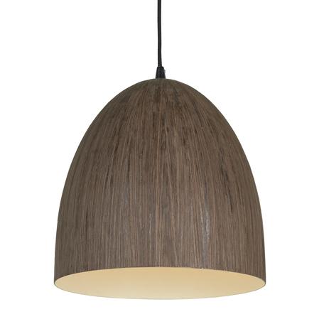 Подвесной светильник Lussole Loft Massapequa LSP-9620, IP21, 1xE27x60W, коричневый, металл, дерево