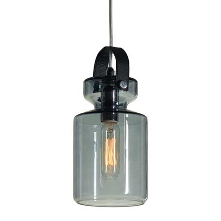 Подвесной светильник Lussole Loft Brighton LSP-9639, IP21, 1xE14x40W, хром, синий, металл, стекло