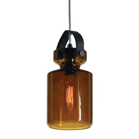 Подвесной светильник Lussole Loft Brighton LSP-9640, IP21, 1xE14x40W, хром, коричневый, коньячный, металл, стекло