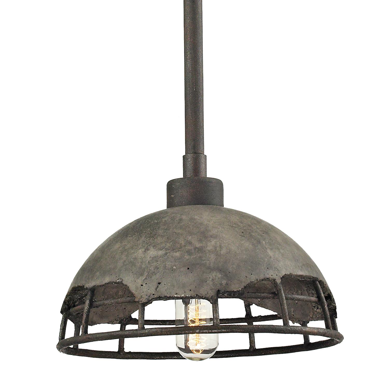 Подвесной светильник Lussole Loft Medford LSP-9642, IP21, 1xE27x60W, серый, металл, бетон - фото 1