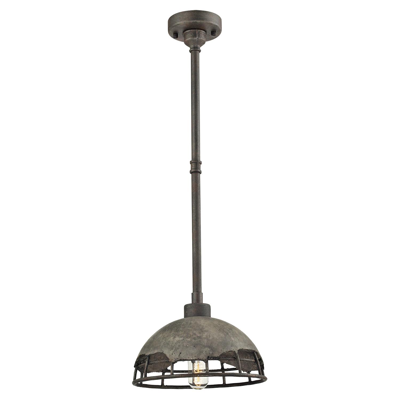 Подвесной светильник Lussole Loft Medford LSP-9642, IP21, 1xE27x60W, серый, металл, бетон - фото 2