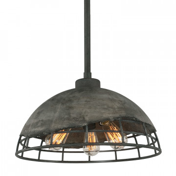 Подвесной светильник Lussole Loft Medford LSP-9643, IP21, 3xE27x60W, серый, металл, бетон