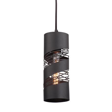 Подвесной светильник Lussole Loft Dix Hills LSP-9651, IP21, 1xE27x60W, черный, металл