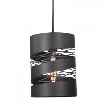 Подвесной светильник Lussole Loft Dix Hills LSP-9652, IP21, 1xE27x60W, черный, металл