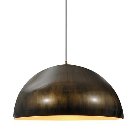 Подвесной светильник Lussole Loft Saratoga LSP-9653, IP21, 1xE27x60W, бронза, металл - миниатюра 1