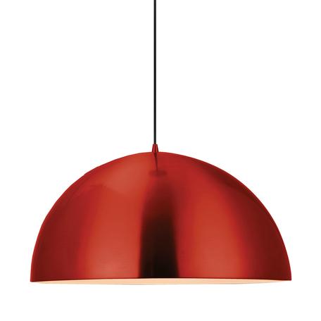 Подвесной светильник Lussole Loft Saratoga LSP-9654, IP21, 1xE27x60W, красный, металл