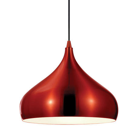 Подвесной светильник Lussole Loft Saratoga LSP-9656, IP21, 1xE27x60W, красный, металл