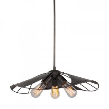 Подвесной светильник Lussole Loft Auburn LSP-9662, IP21, 3xE27x60W, коричневый, металл