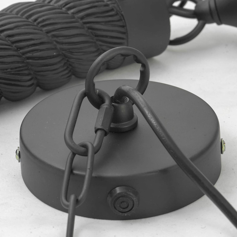 Подвесной светильник Lussole Loft Dix Hills LSP-9668, IP21, 1xE27x60W, черный, прозрачный, канат, металл, стекло - фото 6