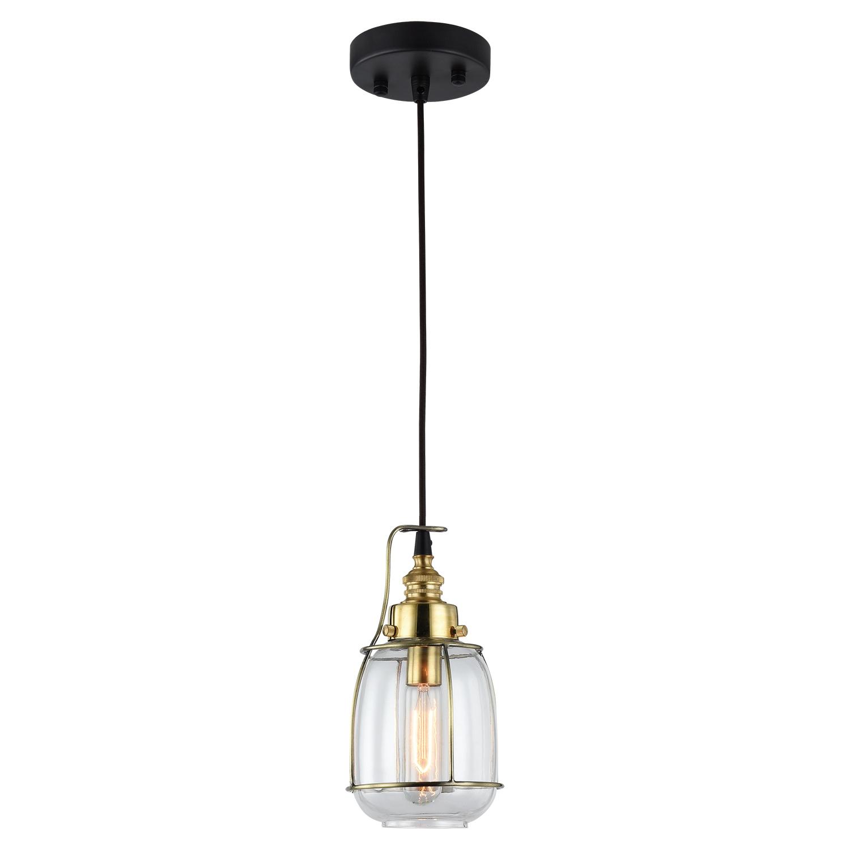 Подвесной светильник Lussole Loft Brighamton LSP-9677, IP21, 1xE14x40W, черный, прозрачный, металл, стекло - фото 2