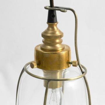 Подвесной светильник Lussole Loft Brighamton LSP-9677, IP21, 1xE14x40W, черный, прозрачный, металл, стекло - миниатюра 4